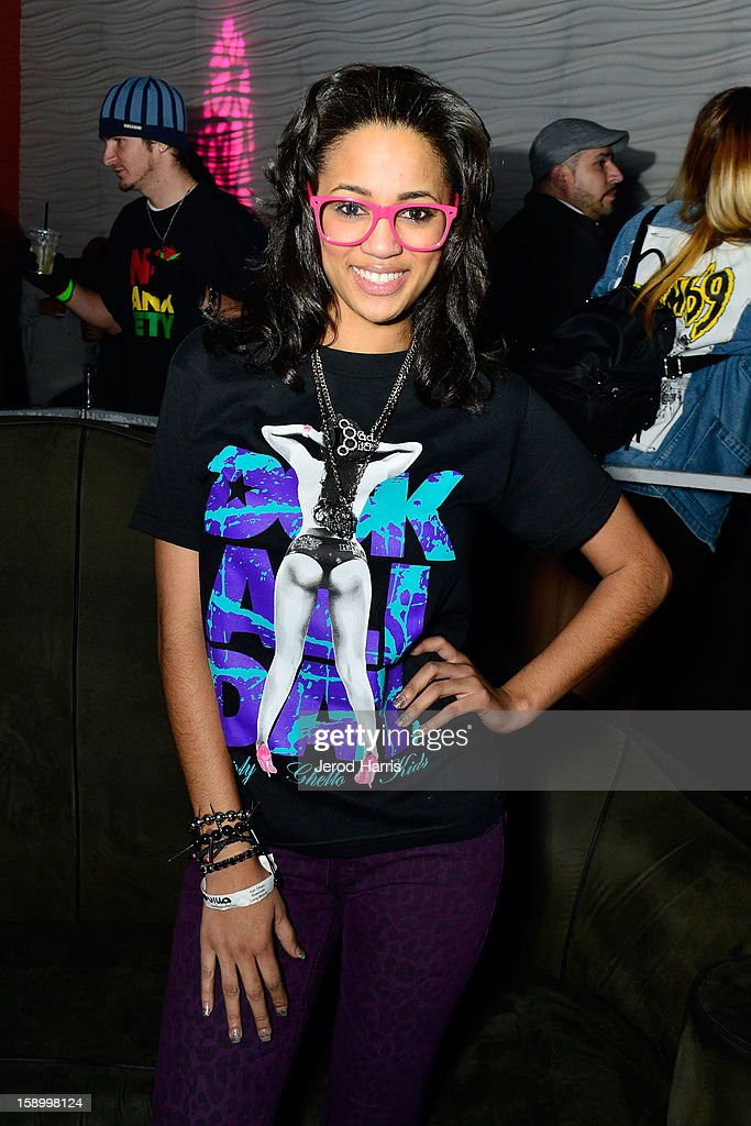 Television personality Camilla Poindexter attends the DGK Agenda after party at Cafe Sevilla on January 4, 2013 in Long Beach, California.