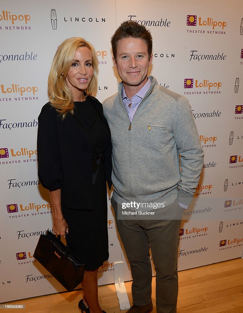 Television personality Camille Grammer (L) and television personality Billy Bush attend the Faconnable Kicks Off The Holidays Shopping Event Benefitting Lollipop Theater Network at Faconnable on November 13, 2012 in Beverly Hills, California.