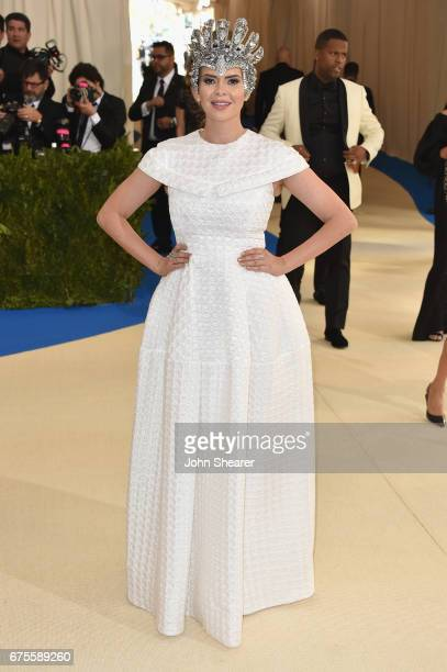 Television personality Carly Steel attends the 'Rei Kawakubo/Comme des Garcons Art Of The InBetween' Costume Institute Gala at Metropolitan Museum of...