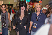 Television personality Cassandra Peterson appears as 'Elvira Mistress of the Dark' at ComicCon International Day 3 on July 22 2016 in San Diego...