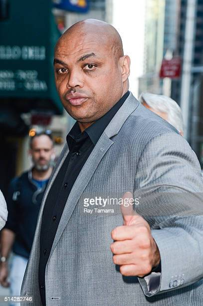Television personality Charles Barkley enters 'The Late Show With Stephen Colbert' taping at the Ed Sullivan Theater on March 7 2016 in New York City