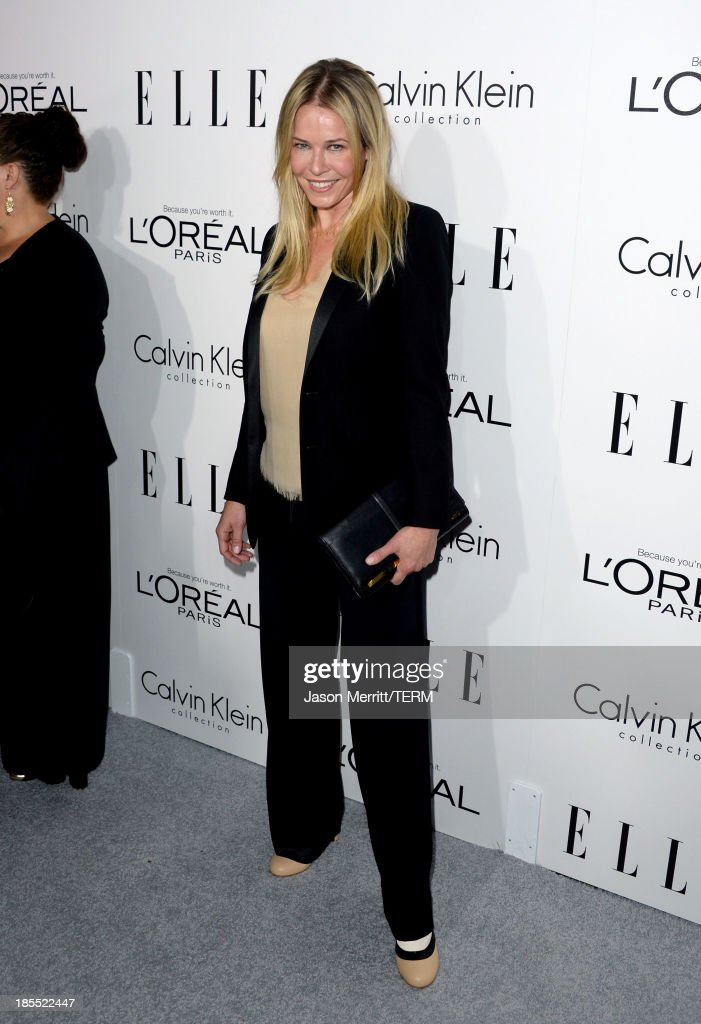 Television personality Chelsea Handler attends ELLE's 20th Annual Women In Hollywood Celebration at Four Seasons Hotel Los Angeles at Beverly Hills on October 21, 2013 in Beverly Hills, California.