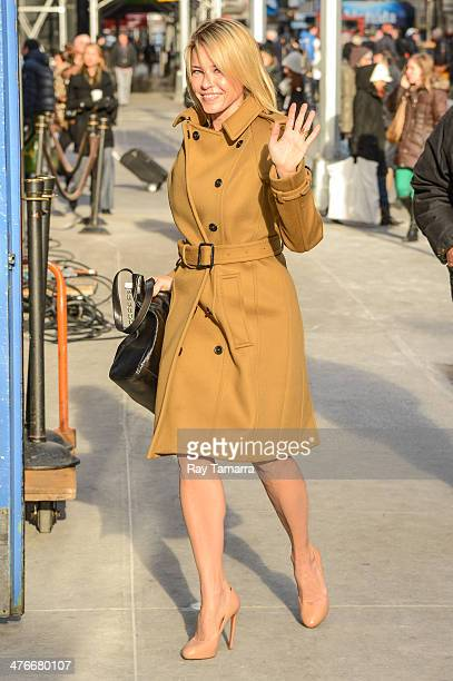 Television personality Chelsea Handler enters the 'Good Morning America' taping at the ABC Times Square Studios on March 4 2014 in New York City