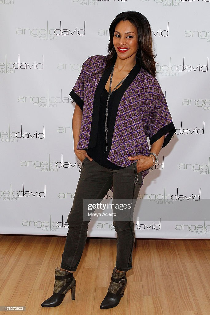 Television personality Chenoa Maxwell attends the 'Leggy Blonde' Book Event at Angelo David Salon on March 12, 2014 in New York City.
