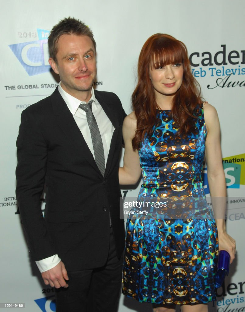 Television personality <a gi-track='captionPersonalityLinkClicked' href=/galleries/search?phrase=Chris+Hardwick&family=editorial&specificpeople=960855 ng-click='$event.stopPropagation()'>Chris Hardwick</a> (L) and actress <a gi-track='captionPersonalityLinkClicked' href=/galleries/search?phrase=Felicia+Day&family=editorial&specificpeople=2499112 ng-click='$event.stopPropagation()'>Felicia Day</a> arrive at the IAWTV Awards at the CES 2013 Show at the Palazzo Theater at the Palazzo Resort Hotel/Casino on January 8, 2013 in Las Vegas, Nevada.