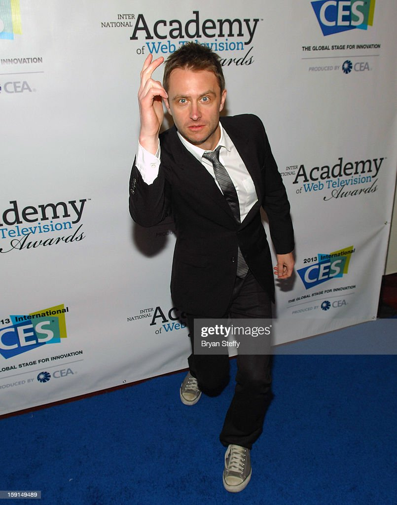 Television personality <a gi-track='captionPersonalityLinkClicked' href=/galleries/search?phrase=Chris+Hardwick&family=editorial&specificpeople=960855 ng-click='$event.stopPropagation()'>Chris Hardwick</a> arrives at the IAWTV Awards at the CES 2013 Show at the Palazzo Theater at the Palazzo Resort Hotel/Casino on January 8, 2013 in Las Vegas, Nevada.