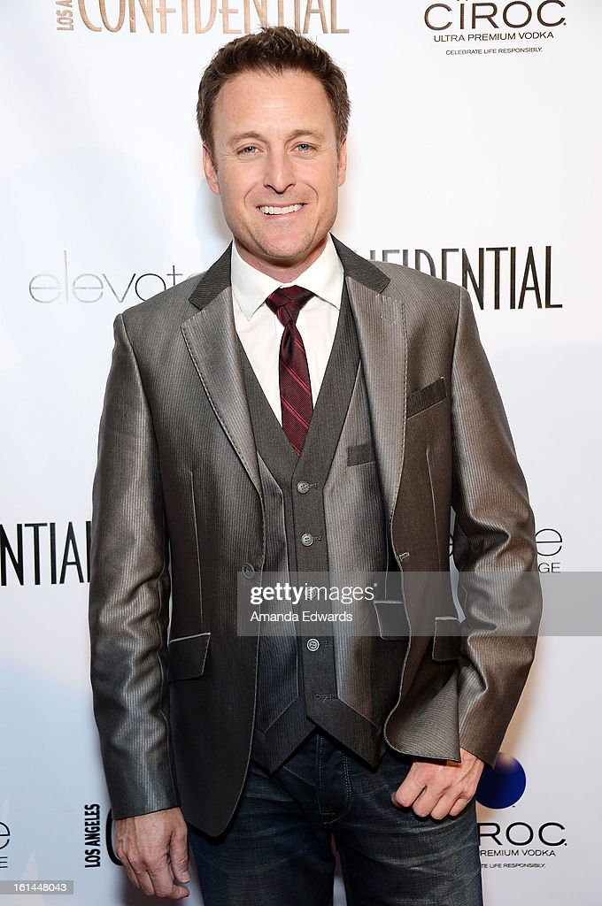 Television personality <a gi-track='captionPersonalityLinkClicked' href=/galleries/search?phrase=Chris+Harrison&family=editorial&specificpeople=583468 ng-click='$event.stopPropagation()'>Chris Harrison</a> arrives at the Los Angeles Confidential and Harmony Project GRAMMY after party honoring Mary J. Blige at Elevate Lounge on February 10, 2013 in Los Angeles, California.