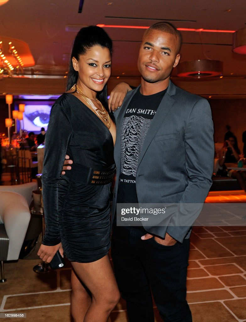 Television personality Claudia Jordan (L) and actor Redaric Williams appear at Andrea's at Encore Las Vegas to celebrate the season premiere of 'All-Star Celebrity Apprentice' on March 2, 2013 in Las Vegas, Nevada.