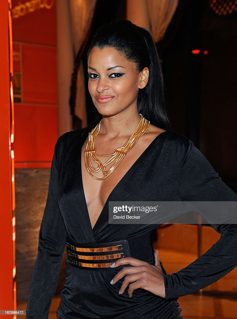 Television personality Claudia Jordan arrives at Andrea's at Encore Las Vegas to celebrate the season premiere of 'All-Star Celebrity Apprentice' on March 2, 2013 in Las Vegas, Nevada.