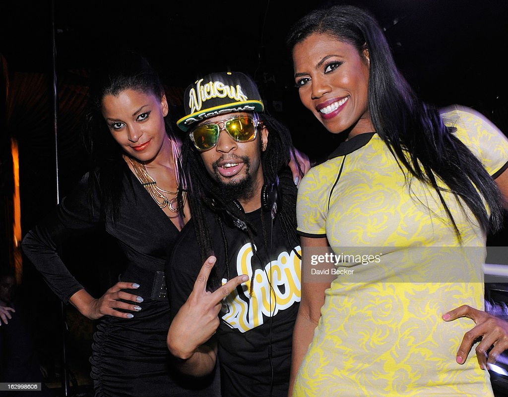 Television personality Claudia Jordan, recording artist Lil' Jon and television personality Omarosa Manigault appear at the Surrender Nightclub at Encore Las Vegas to celebrate the season premiere of 'All-Star Celebrity Apprentice' on March 2, 2013 in Las Vegas, Nevada.