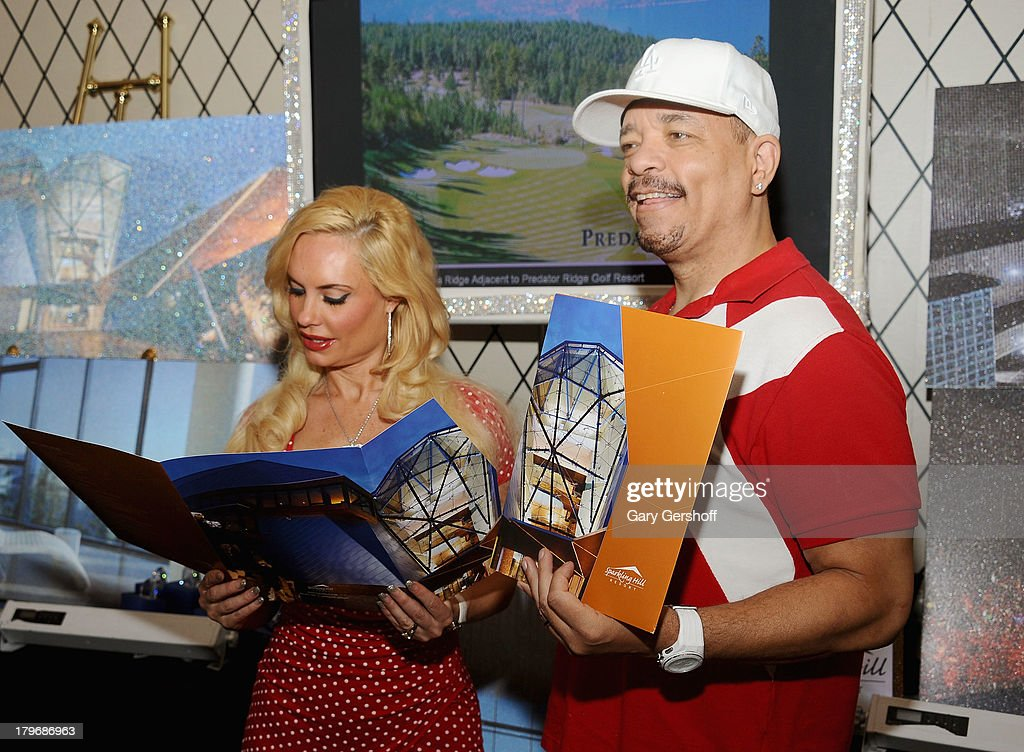 Television personality Coco Austin (L) and actor Ice-T at the GBK & Sparkling Resort Fashionable Lounge during Mercedes-Benz Fashion Week on September 6, 2013 in New York City.