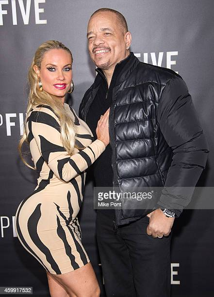Television Personality Coco Austin and Actor IceT attend the 'Top Five' New York Premiere at Ziegfeld Theater on December 3 2014 in New York City