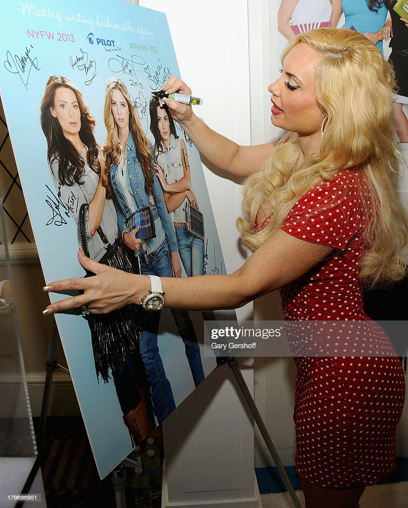 Television personality Coco Austin at the GBK & Sparkling Resort Fashionable Lounge during Mercedes-Benz Fashion Week on September 6, 2013 in New York City.
