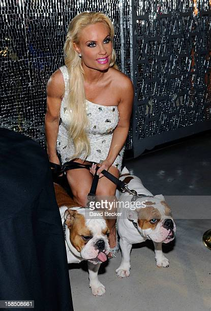 Television personality Coco Austin attends a reception after her opening night performance in 'Peepshow' at the Planet Hollywood Resort and Casino on...