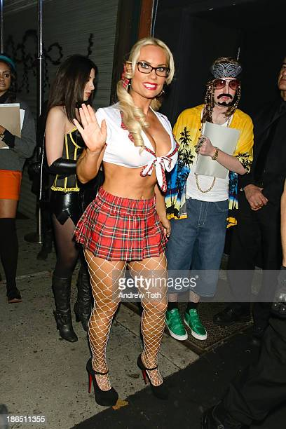 Television personality Coco Austin attends the 2013 Heidi Klum Halloween Party at Marquee on October 31 2013 in New York City