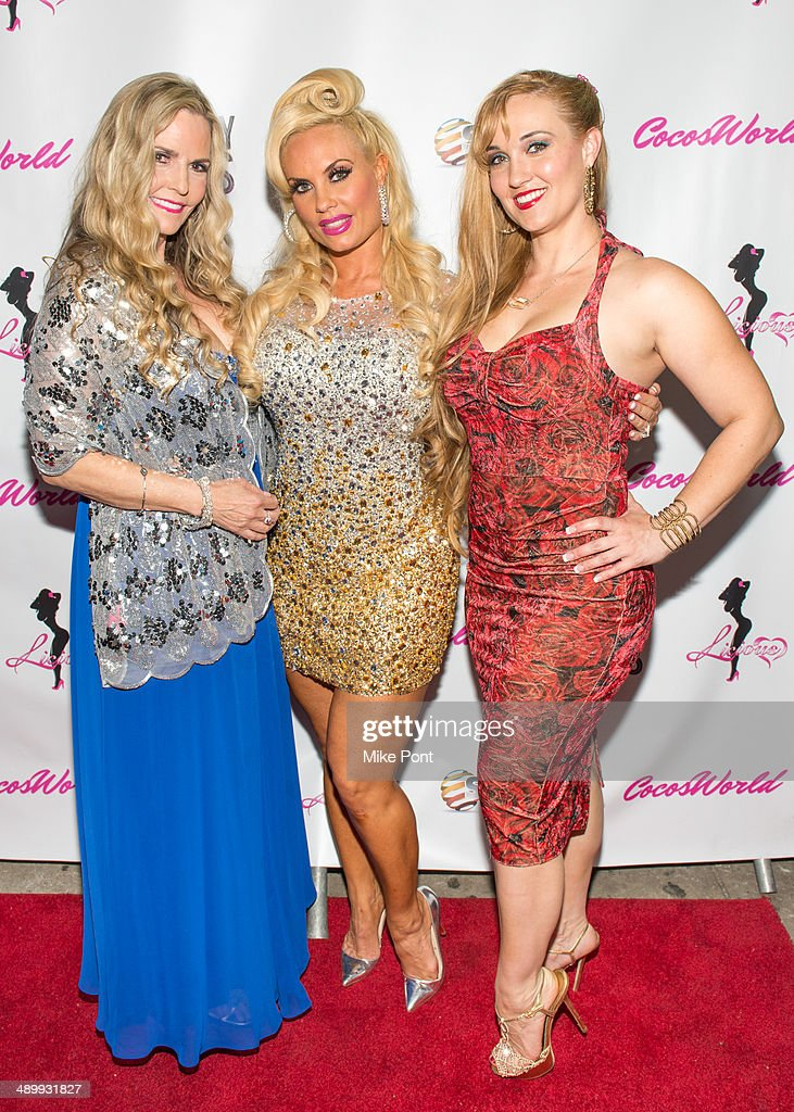 Television Personality Coco Austin her mom Tina Austin and sister Kristy Williams attend Coco The Vanity Vixens at Highline Ballroom on May 12 2014...