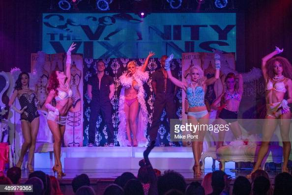 Television Personality Coco Austin performs with The Vanity Vixens at Coco The Vanity Vixens at Highline Ballroom on May 12 2014 in New York City