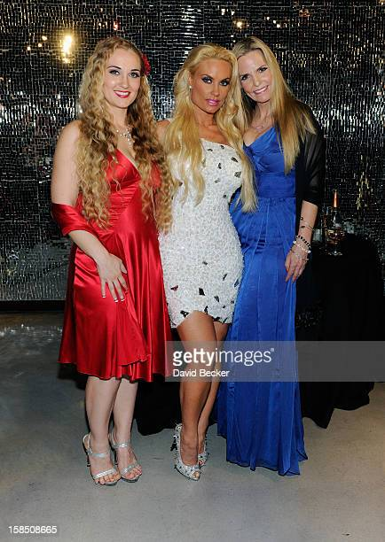 Television personality Coco Austin with sister Kristy Williams and mother Tina Austin appear after Coco Austin's opening night performance in...