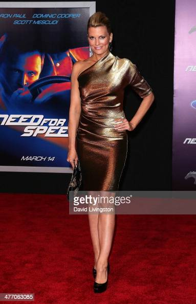 Television personality Courtney Hansen attends the premiere of DreamWorks Pictures' 'Need For Speed' at TCL Chinese Theatre on March 6 2014 in...