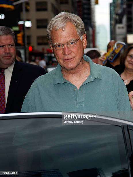 Television personality David Letterman visits 'Late Show With David Letterman' at the Ed Sullivan Theater on June 23 2009 in New York City