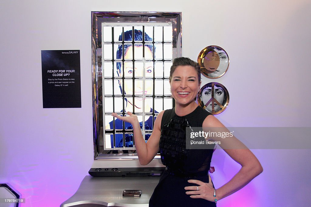 Television personality <a gi-track='captionPersonalityLinkClicked' href=/galleries/search?phrase=Diem+Brown&family=editorial&specificpeople=962153 ng-click='$event.stopPropagation()'>Diem Brown</a> at The Samsung Galaxy Blue Room at Mercedes-Benz Fashion Week Spring 2014 Collections at Lincoln Center on September 6, 2013 in New York City.