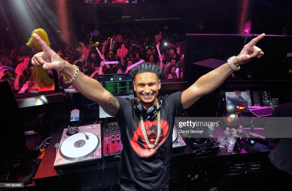 Television personality DJ Paul 'Pauly D' DelVecchio appears at his kick-off of his year-long residency at Haze Nightclub at the Aria Resort & Casino at CityCenter on January 19, 2013 in Las Vegas, Nevada.