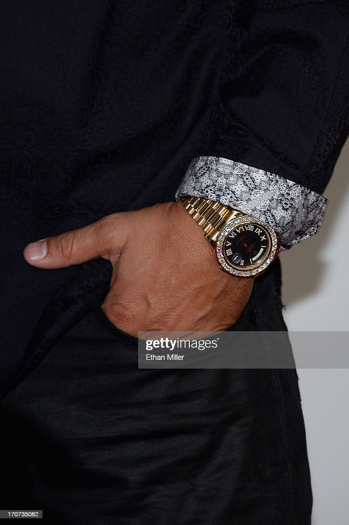 Television personality DJ Paul 'Pauly D' DelVecchio (watch detail) arrives at the 2013 Miss USA pageant at Planet Hollywood Resort & Casino on June 16, 2013 in Las Vegas, Nevada.