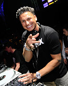 Television personality DJ Paul 'Pauly D' DelVecchio performs at Haze Nightclub at the Aria Resort Casino at CityCenter on on March 23 2013 in Las...