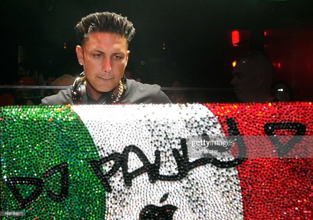Television personality DJ Paul 'Pauly D' DelVecchio performs at his kick-off of his year-long residency at Haze Nightclub at the Aria Resort & Casino at CityCenter on January 19, 2013 in Las Vegas, Nevada.