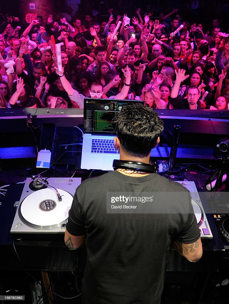 Television personality DJ Paul 'Pauly D' DelVecchio performs at his year-long residency kick-off at Haze Nightclub at the Aria Resort & Casino at CityCenter on January 19, 2013 in Las Vegas, Nevada.
