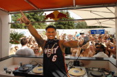 Television personality DJ Paul 'Pauly D' DelVecchio performs at the Liquid Pool Lounge at the Aria Resort Casino at CityCenter on April 13 2013 in...