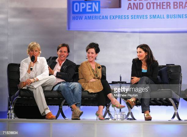 Television personality Ellen Degeneres Andy Spade CEO and Creative Director of Kate Spade designer Kate Spade and Bobbi Brown founder and CEO of...