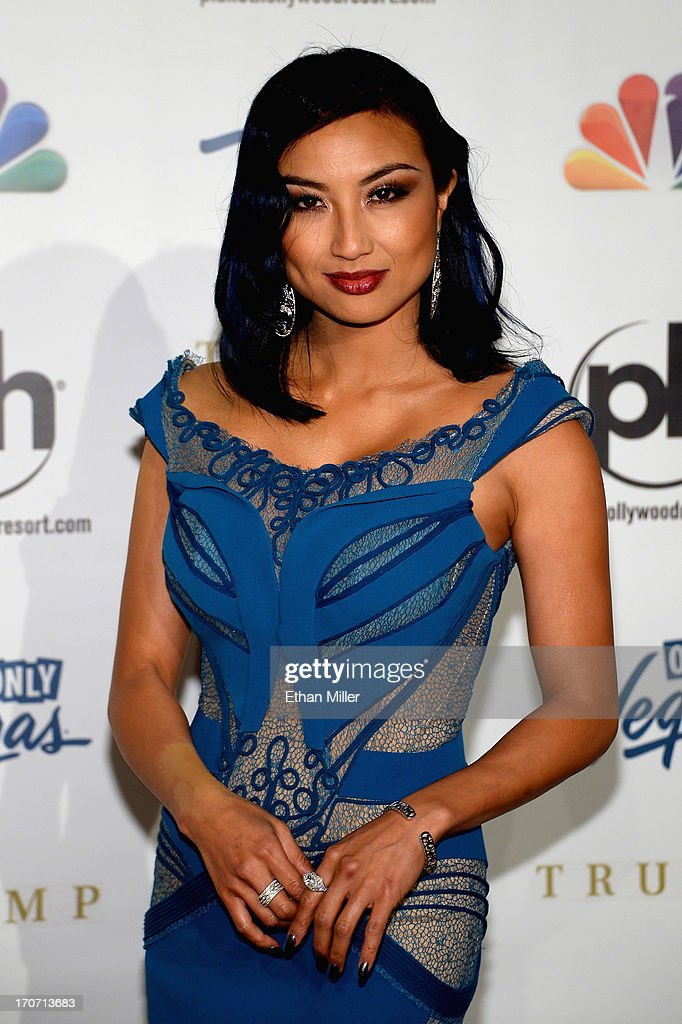 Television personality, fashion expert and pageant commentator Jeannie Mai arrives at the 2013 Miss USA pageant at Planet Hollywood Resort & Casino on June 16, 2013 in Las Vegas, Nevada.