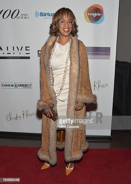 Television personality Gayle King attends Chaka Khan's Birthday Party on March 26 2013 in New York City