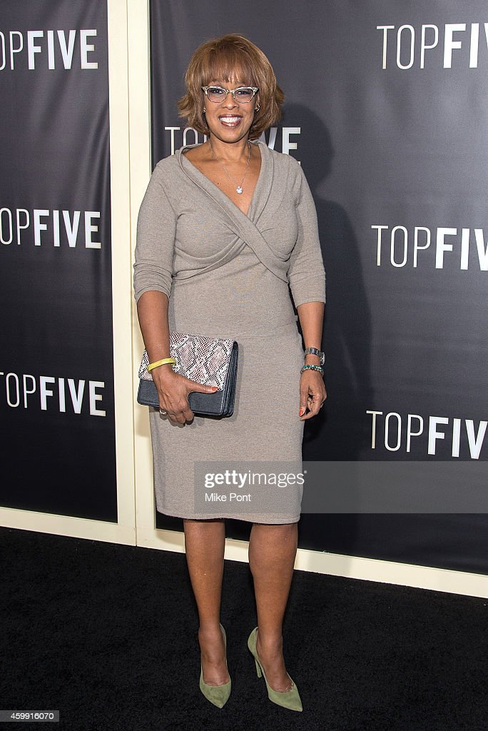 Television personality Gayle King attends the 'Top Five' New York Premiere at Ziegfeld Theater on December 3 2014 in New York City