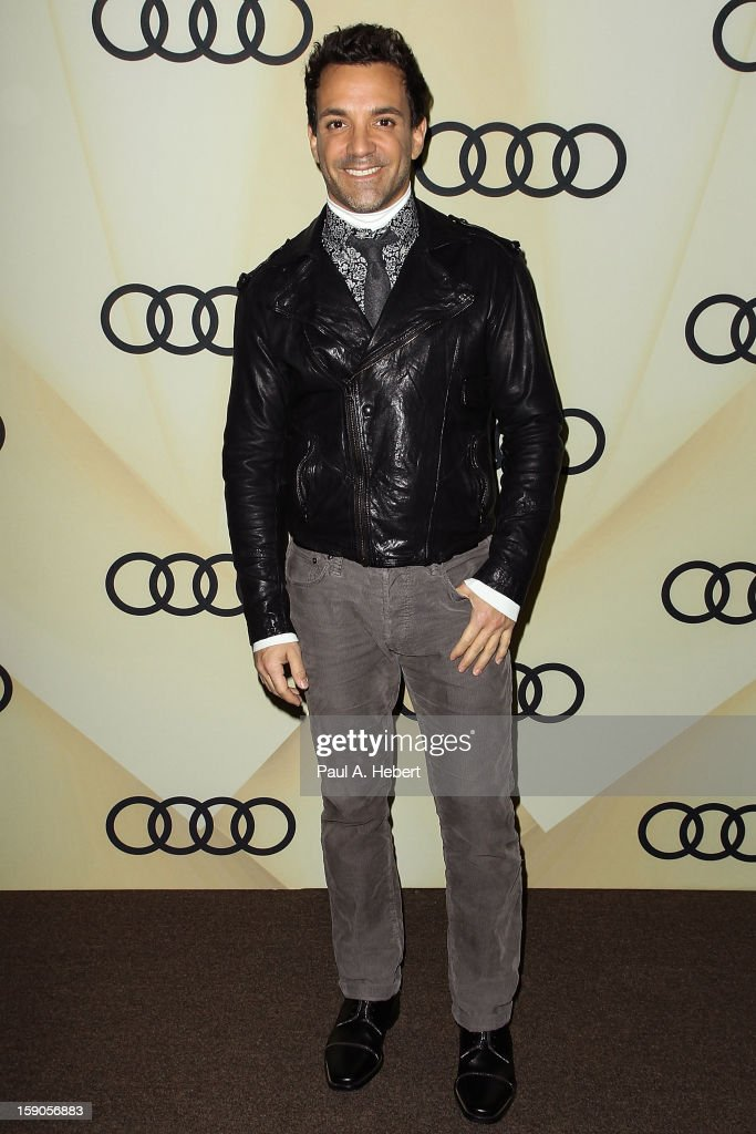 Television personality George Kotsiopoulos arrives at the Audi Golden Globe 2013 Kick Off Party at Cecconi's Restaurant on January 6, 2013 in Los Angeles, California.