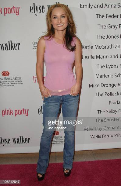 Television personality Giada De Laurentiis arrives at the 5th Annual Pink Party at La Cachette Bistro on September 12 2009 in Santa Monica California