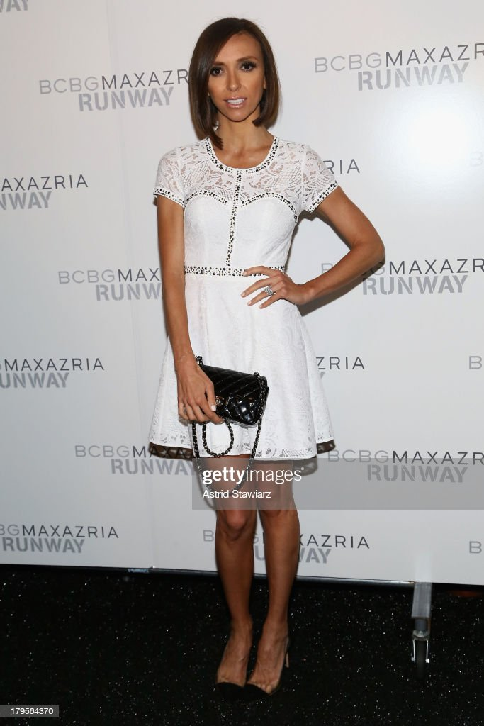 Television personality <a gi-track='captionPersonalityLinkClicked' href=/galleries/search?phrase=Giuliana+Rancic&family=editorial&specificpeople=556124 ng-click='$event.stopPropagation()'>Giuliana Rancic</a> poses backstage at the BCBGMAXAZRIA Spring 2014 fashion show during Mercedes-Benz Fashion Week at The Theatre at Lincoln Center on September 5, 2013 in New York City.