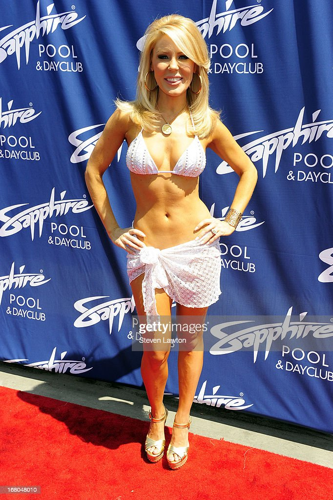 Television personality Gretchen Rossi arrives at the Sapphire Pool & Day Club grand opening party on May 4, 2013 in Las Vegas, Nevada.