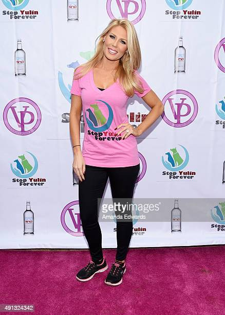 Television personality Gretchen Rossi attends the StopYulinForever March to End Dog Cruelty in Yulin China at MaCarthur Park Recreation Center on...