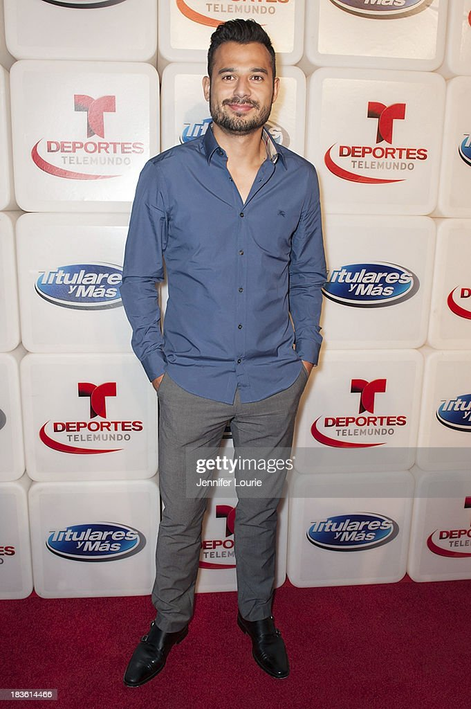 Television personality Guad Venegas attends Deportes Telemundo's celebration of their hit show 'Titulares Y Mas' at Ebanos Crossing on October 7, 2013 in Los Angeles, California.