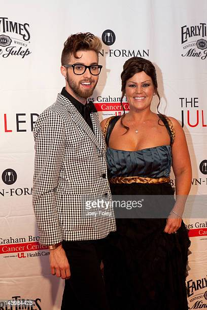 Television personality Gunnar Deatherage and Jessica Rizzo attend the 2012 Julep ball at the Galt House Hotel Suites Grand Ballroom on May 4 2012 in...