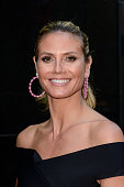 Television personality Heidi Klum leaves the 'Good Morning America' taping at ABC Times Square Studios on July 12 2016 in New York City