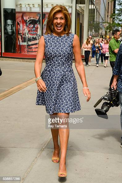 Television personality Hoda Kotb enters the 'Today Show' taping at the NBC Rockefeller Center Studios on June 08 2016 in New York City