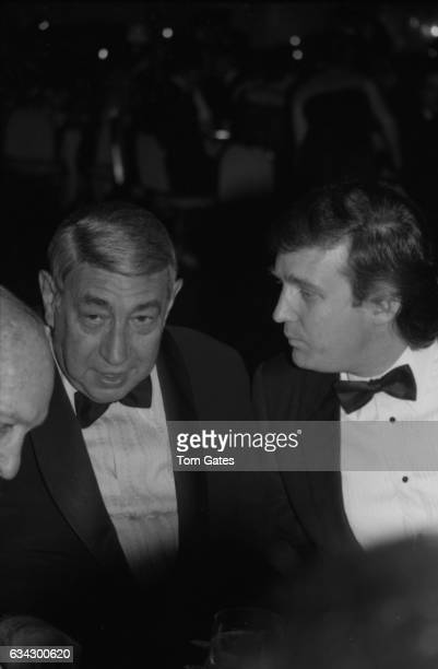 Television personality Howard Cosell and businessman Donald Trump attend the Boys Town of Italy Ball at the WaldorfAstoria Hotel in April 1984 in New...