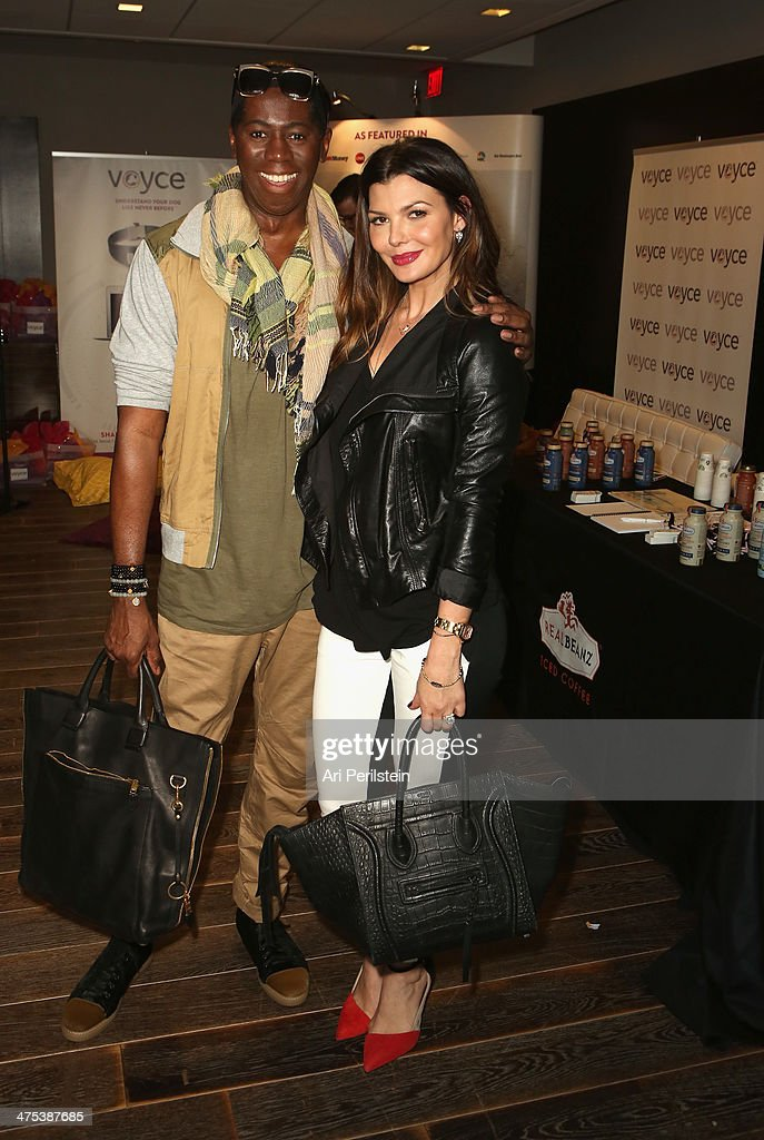 Television personality J. Alexander 'Miss J' (L) and actress Ali Landry attend Kari Feinstein's Pre-Academy Awards Style Lounge at the Andaz West Hollywood on February 27, 2014 in Los Angeles, California.