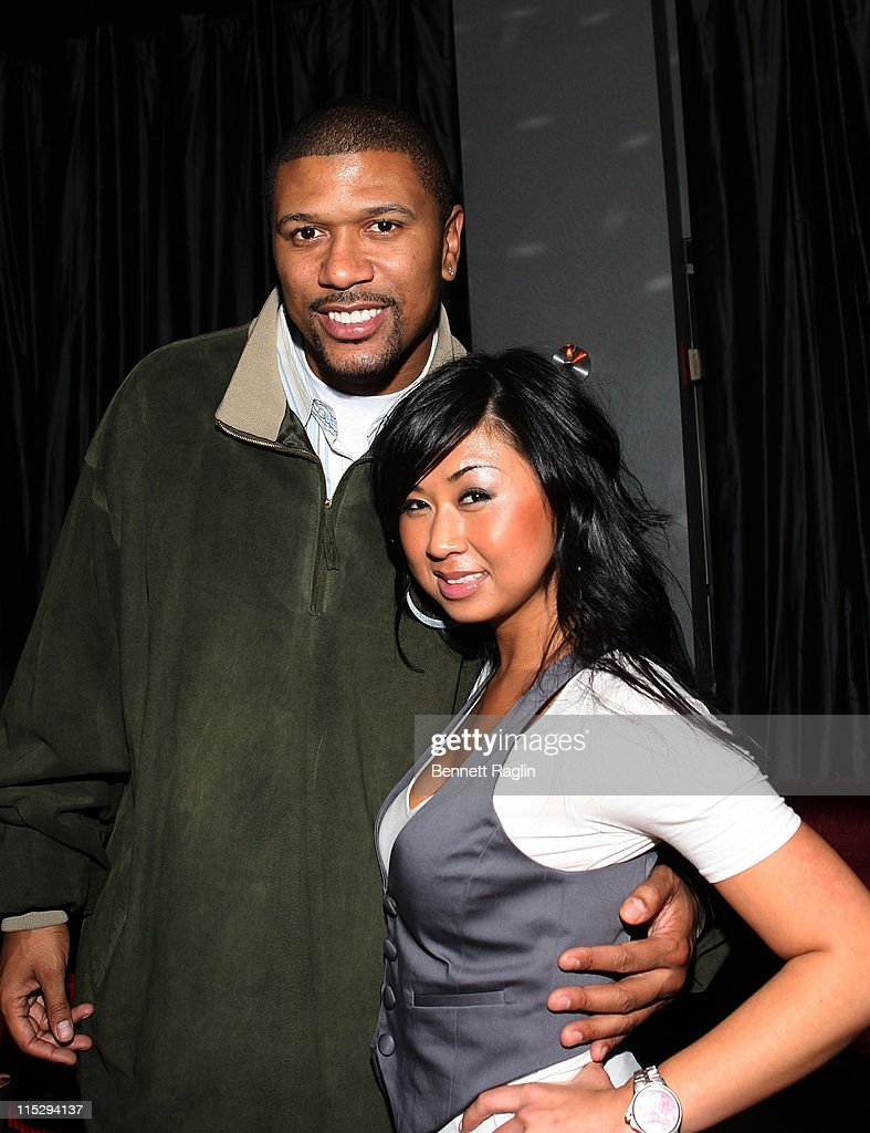 Television personality <a gi-track='captionPersonalityLinkClicked' href=/galleries/search?phrase=Jalen+Rose&family=editorial&specificpeople=201704 ng-click='$event.stopPropagation()'>Jalen Rose</a> and Tracy Nguyen, Senior Vice President of 5WPR pose for a picture during the 5WPR 5th Anniversary party at Spotlight live, December 10, 2007, New York, New York.