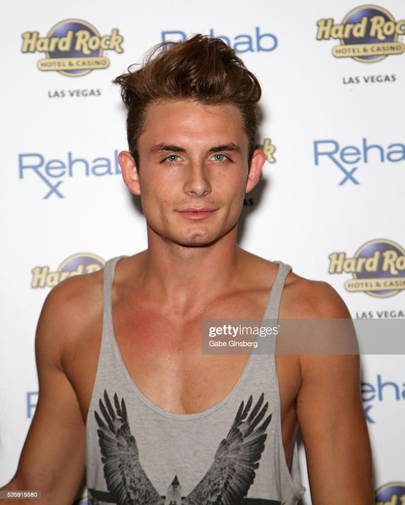 Television personality James Kennedy from 'Vanderpump Rules' arrive at the Hard Rock Hotel & Casino's Rehab pool party on May 30, 2016 in Las Vegas, Nevada.