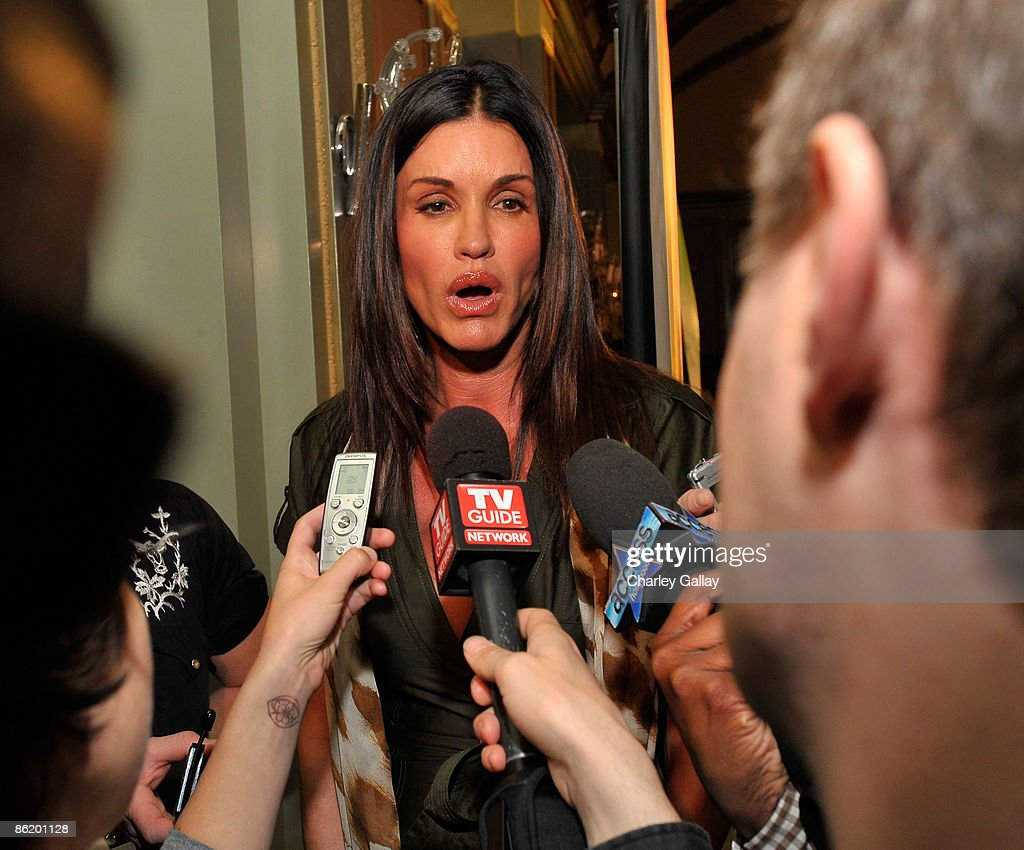 Television personality Janice Dickinson attends a press conference for 'I'm a Celebrity Get Me Out Of Here!' at the Langham Hotel on April 24, 2009 in Pasadena, California.