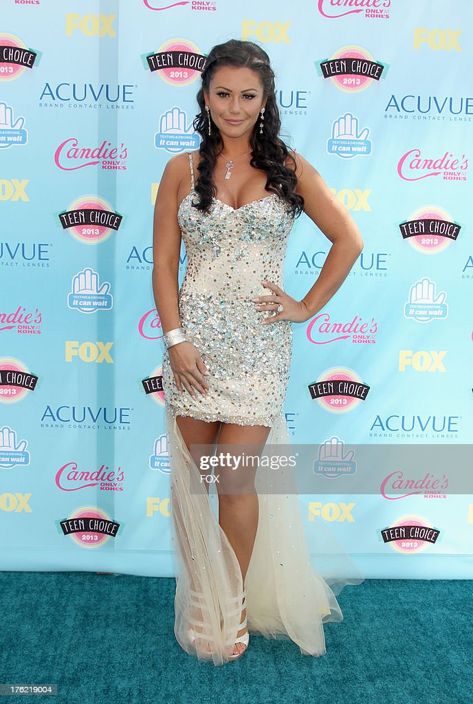Television personality Jenni 'JWOWW' Farley arrives at the Fox Teen Choice Awards 2013 held at the Gibson Amphitheatre on August 11, 2013 in Los Angeles, California.